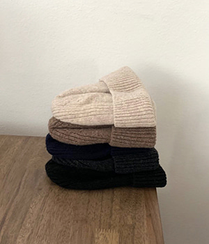 basic wool beanie (6color)