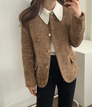 gold button jacket (3color)