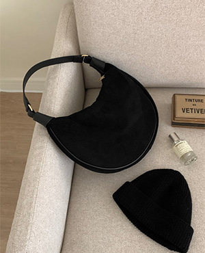 suede moon bag (3color)