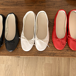 ribbon flat shoes (3color)