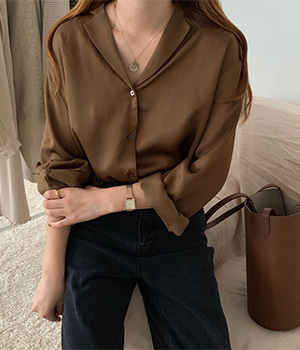 viscose blouse (2color)
