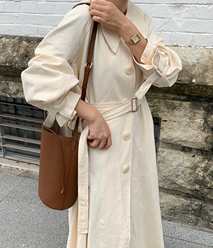 almond trench coat (2color)