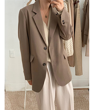 classic two button jk (khaki brown)