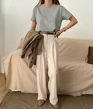 pintuck wide slacks (2color) 재진행