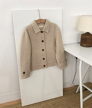 handmade herringbone short jacket (2color) 재진행