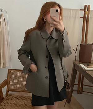 single button jacket (2color)