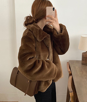sandro fur jacket (3color)