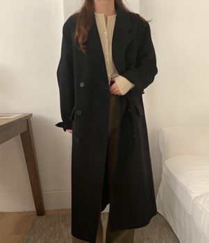 standard handmade double coat (black)