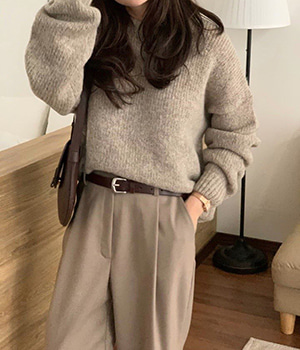 mocha knit (3color)