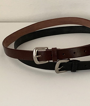 formal leather belt (2color)