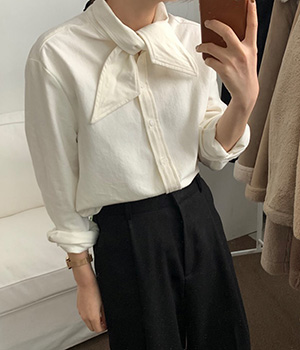 tie blouse (2color)