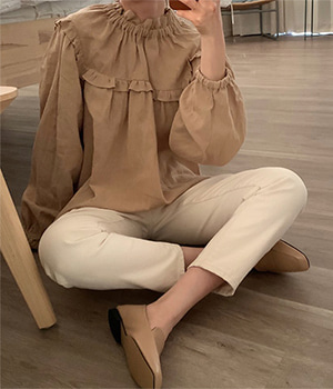 masion frill blouse (3color)