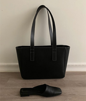 소가죽 simple shopper bag (2color)
