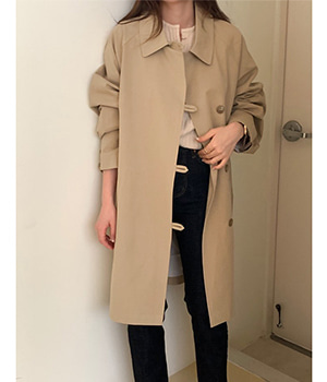 half trench coat (2color)
