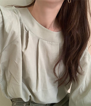 nov pleated blouse (2color)