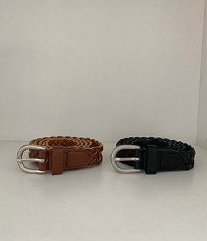 twist leather belt (2color)