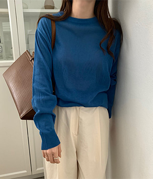 linen round knit (3color)