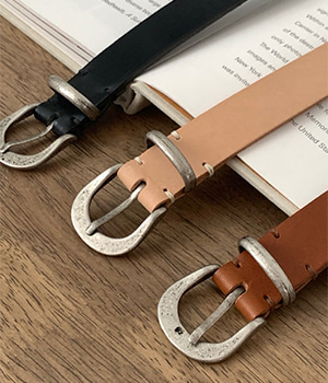leather metal belt (3color)