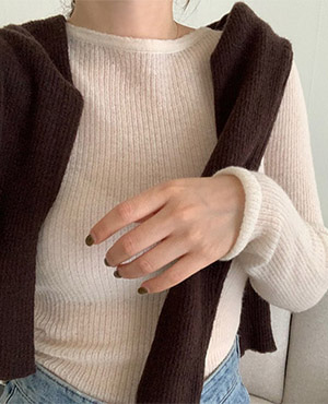 mohair wool inner knit (3color)