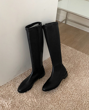 round slim long boots (2color)