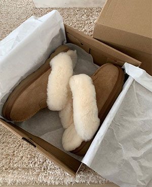 리얼소가죽 ugg slipper (2color)