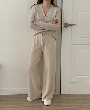 knit wide pants (3color)