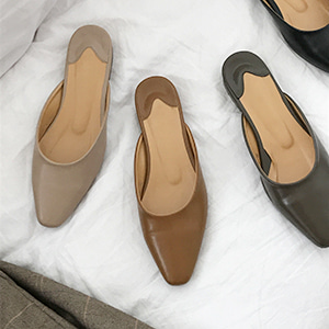 slim mule slipper (4color)