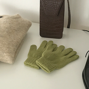 wool angora gloves (3color)