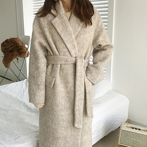 mohair robe coat (2color)