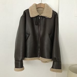 shearling leather mustang