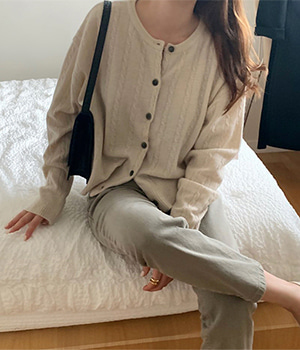 lambswool cashmere cardigan (4color)