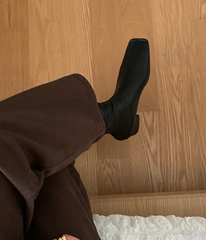 slim square boots (2type)