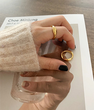 wave gold ring (92.5 silver)