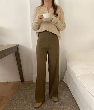 wool knit pants (2color)